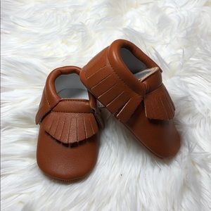 Other - New Brown baby toddler soft sole moccasins